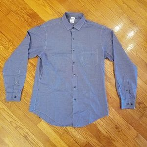 Brooks Brothers 1818 Button Up Blue Hounds Tooth